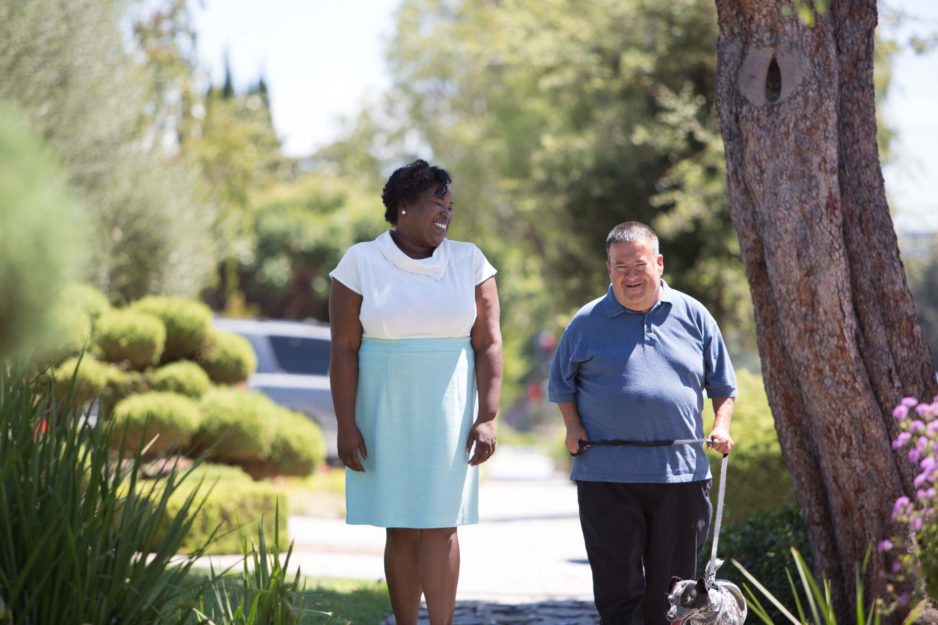 Differences between assisted living and in-home care include care for a couple hours a day