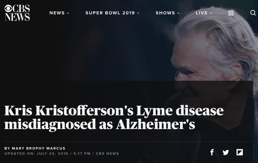 Even Kris Kristofferson had Lymes disease symptoms