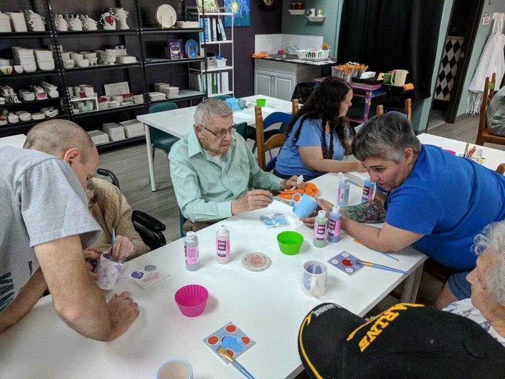 Residents from our Goodyear and Surprise assisted living homes had a great time painting their mugs