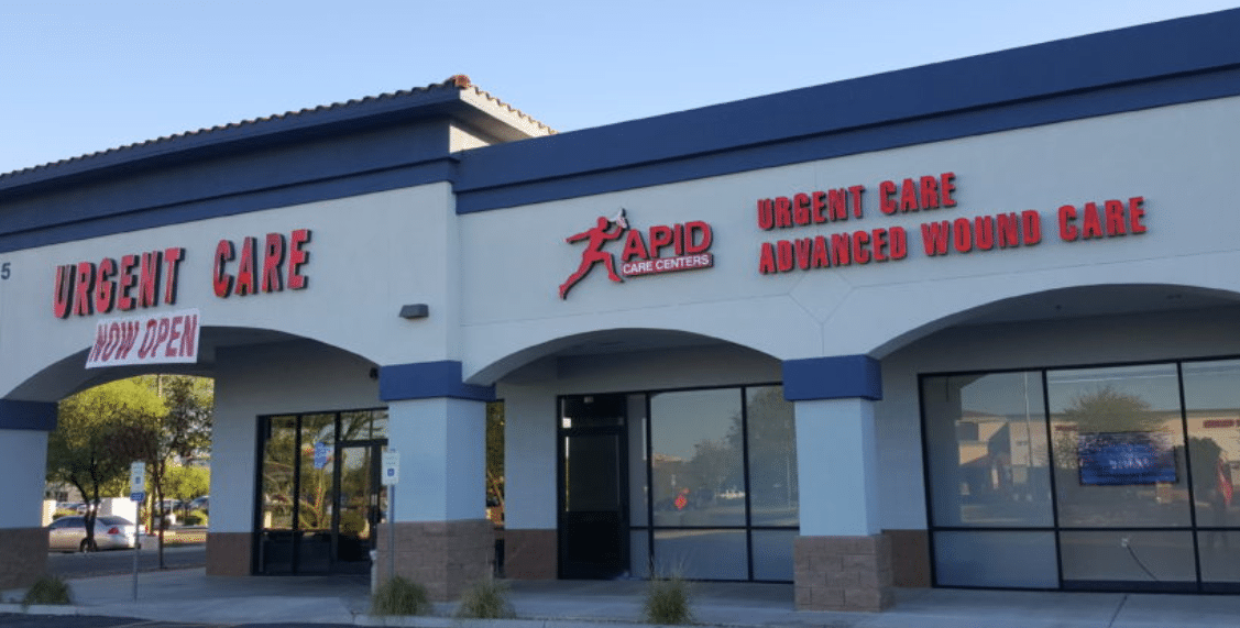 Rapid Care clinic is the only urgent care facility on the list