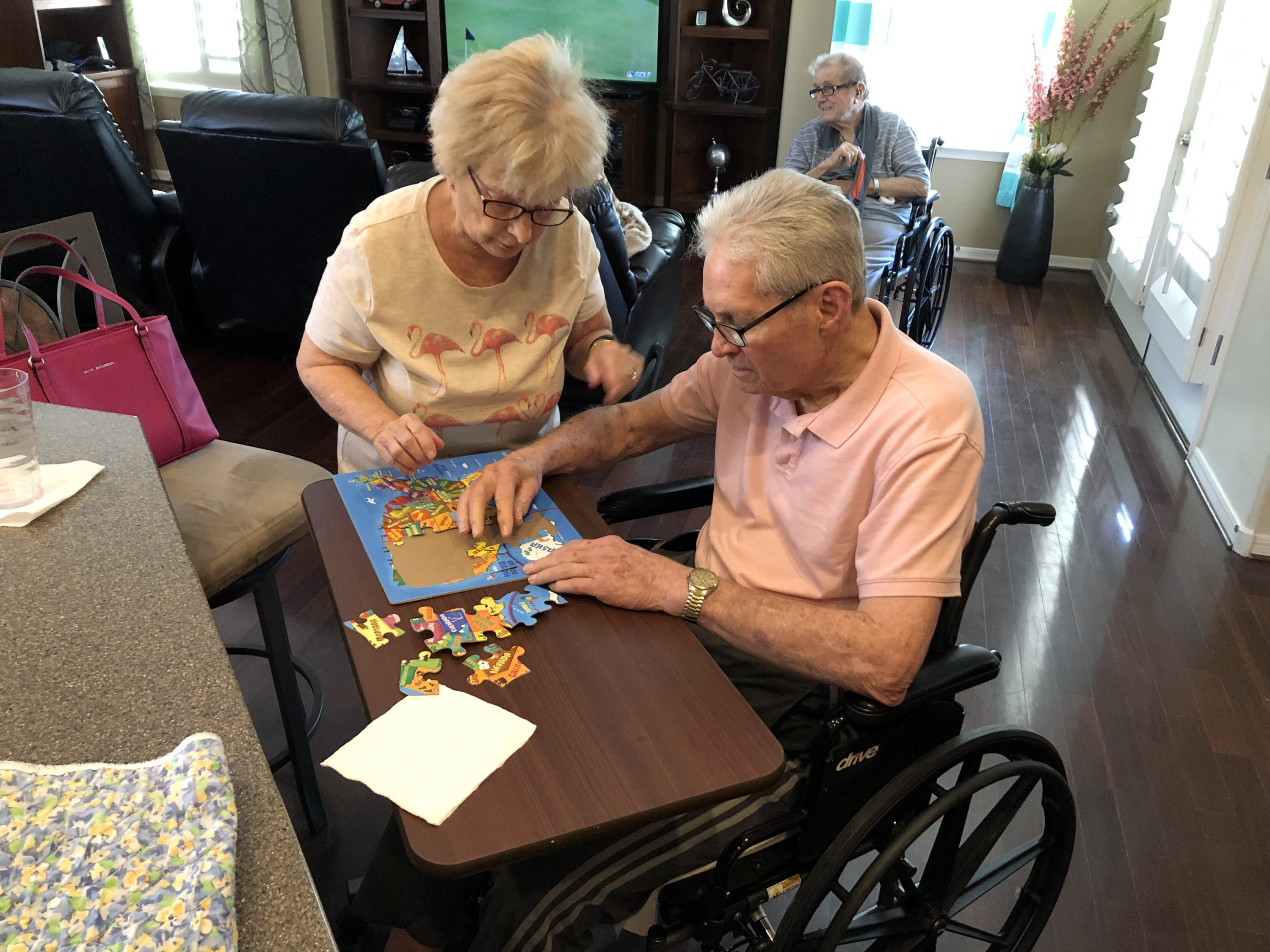 We try to keep our assisted living homes as stress free as possible