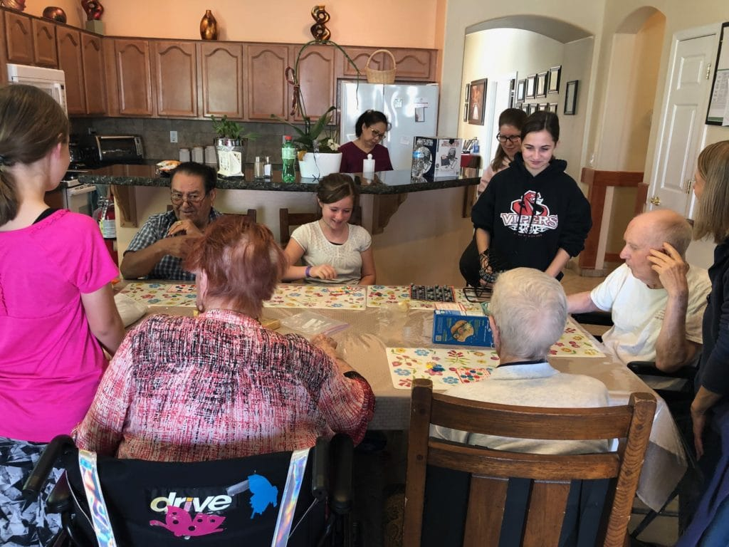 Families are always welcome at our Suprise assisted living homes